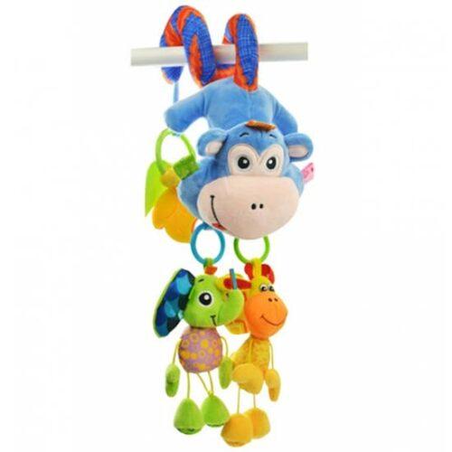 Igracka za krevetac plisana spirala majmunce