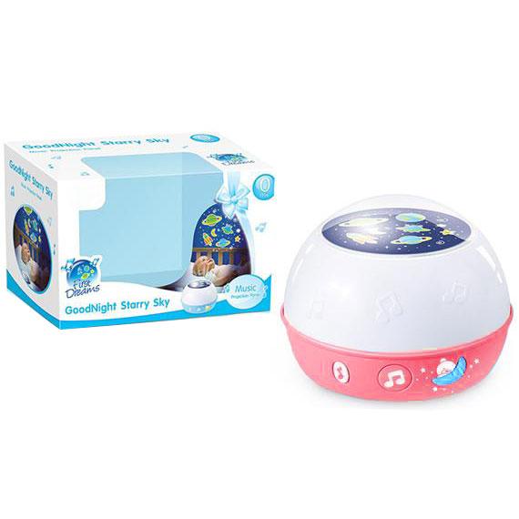 roze beli projektor za bebe