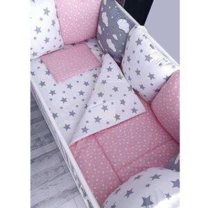 Roze posteljina za krevetac