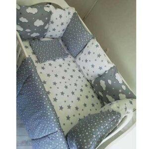Siva posteljina za krevetac