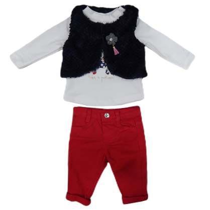 Crveno beli komplet za bebe 3266