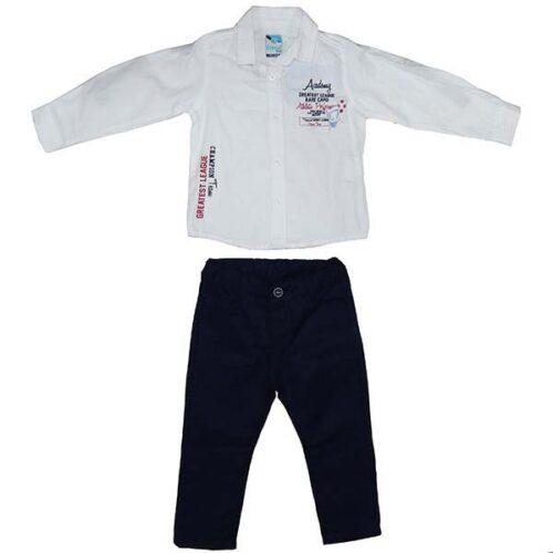 Bela kosulja i teget pantalone za bebe