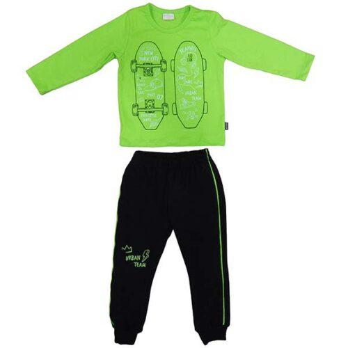Komplet zelena majica i donji deo za bebe