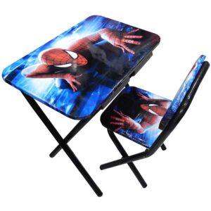Drveni sto i stolica sa motivom Spajdermena