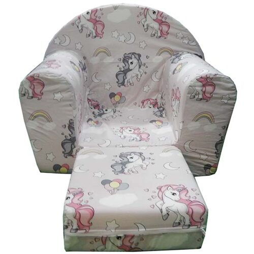 Fotelja za decu od sundjera roze