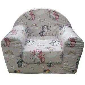 Sundjerasta foteljica za decu sa jednorogom