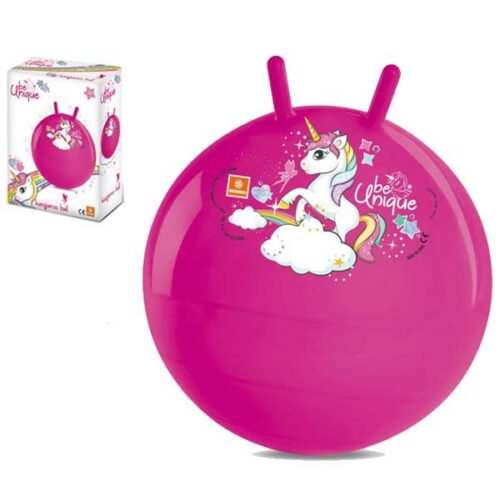 Roze gumena lopta za skakanje jednorog