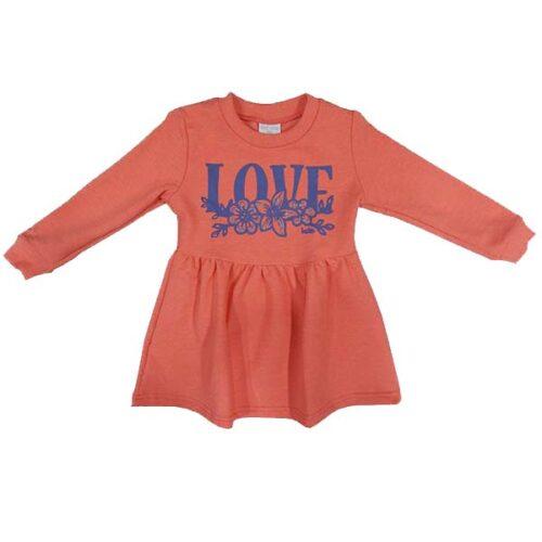 Pamucna toplija haljina za bebe 4043