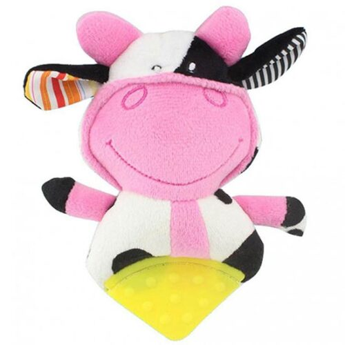 Plisana zvecka za bebe kravica Muuu