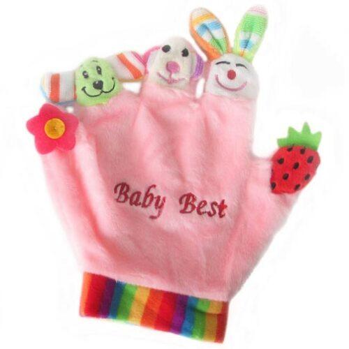 Roze plisana rukavica Bunny