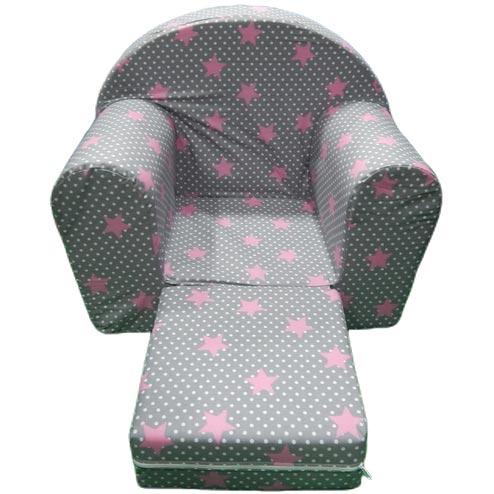 Sundjerasta fotelja za decu sive boje