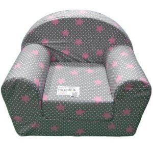 Siva foteljica sa roze srcima