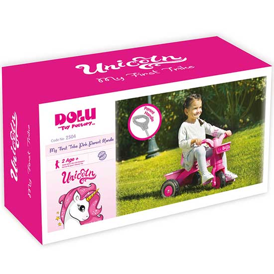 Roze bicikl sa tri tocka za devojcice