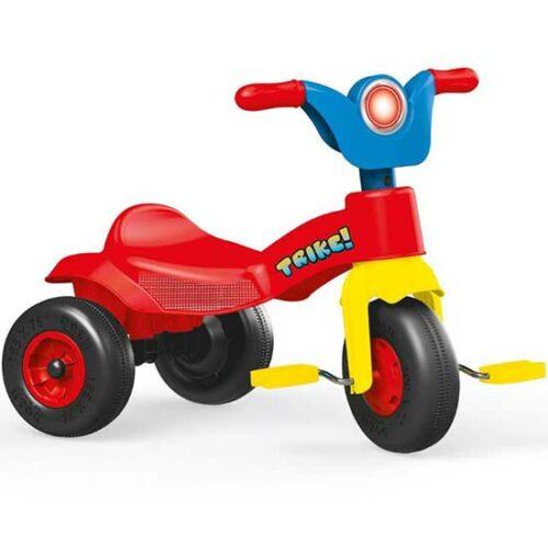 Crveni tricikl od plastike Dolu
