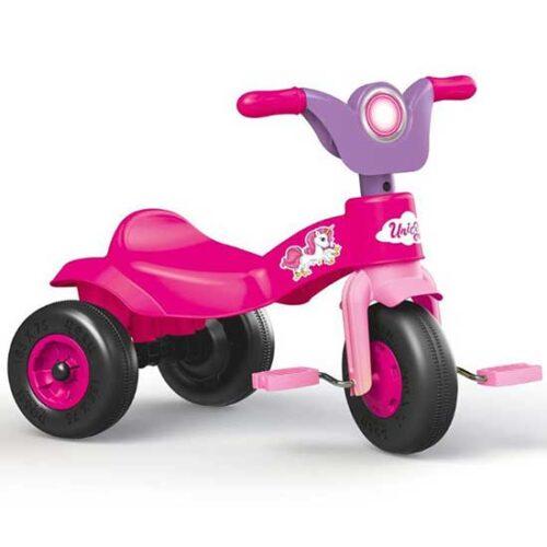 Roze tricikl za decu Dolu