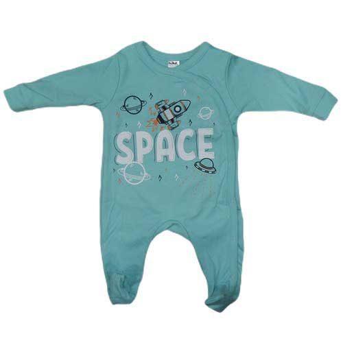 Zelena strampla za bebe Space