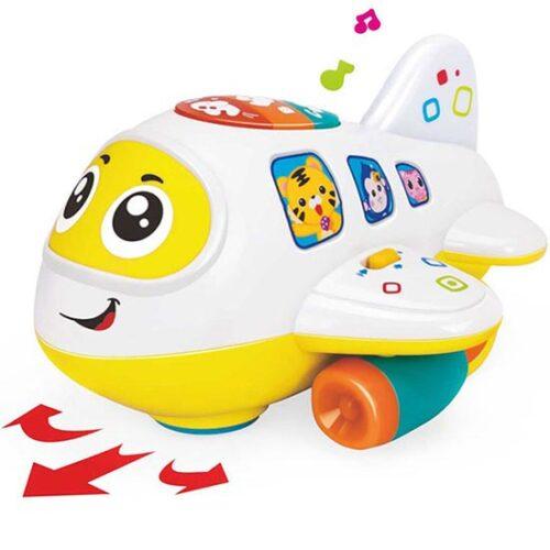 Igracka beli avion za bebe