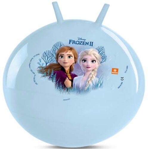 Lopta plave boje sa slikom Ana i Elza