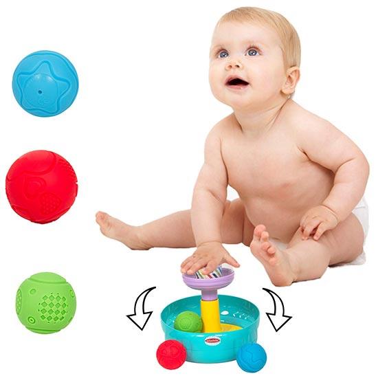 Edukativna igračka za bebe Push and Spin