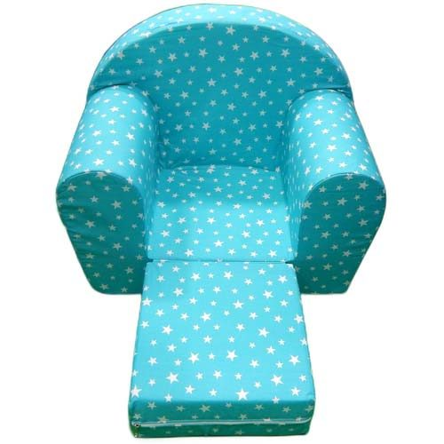 Fotelja za decu tirkizne zvezde