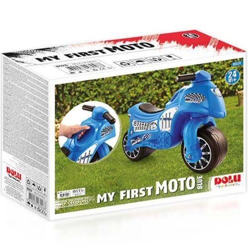 Plava guralica za decaka Moj prvi motor