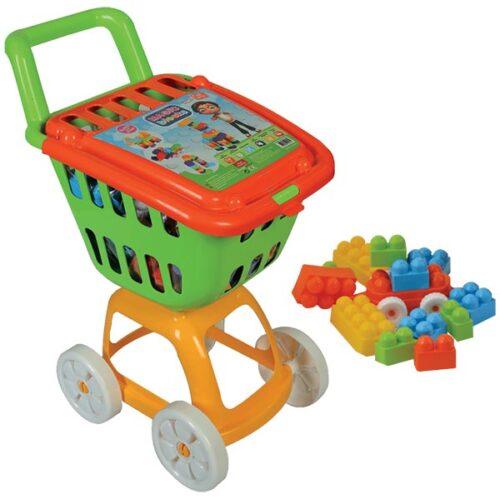 Kolica za supermarket sa kockama Magic blocks