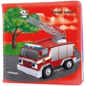 Gumena knjiga za kupanje sa dezenom vatrogasnih kola