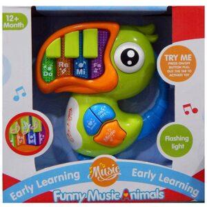 Plasticna igracka za bebe Papagaj