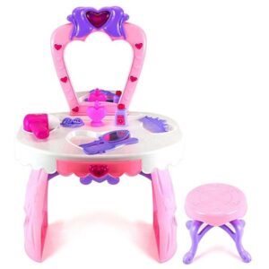 roze sto i stolica za ulepsavanje devojcica flower