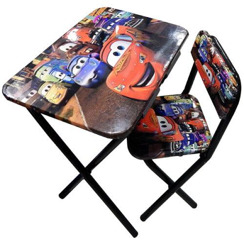 Drveni deciji sto i stolica Cars