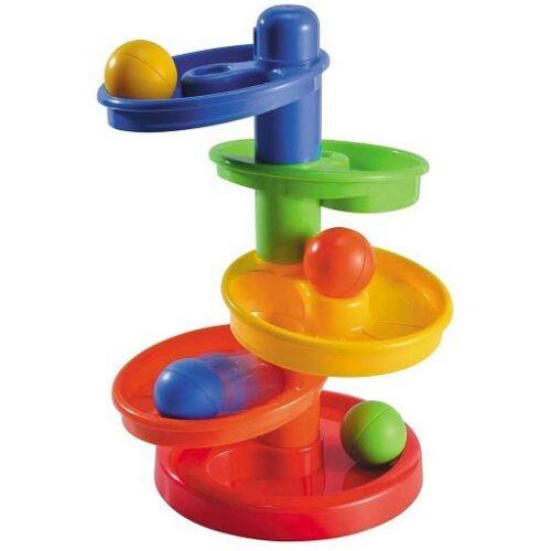 Sareni stalak za bebe sa loptama Rainbow