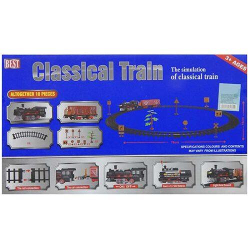Lokomotiva i vagon sa prugom za decu Express