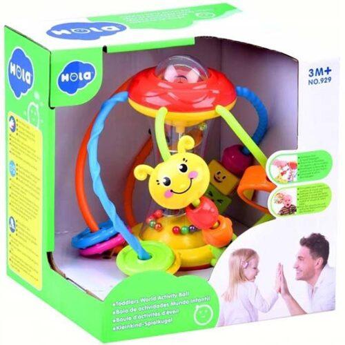 sarena lopta za bebe u kutiji hola