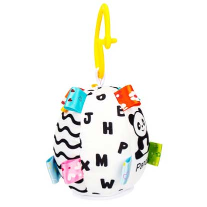 crno bela edukativna lopta za bebe jolly