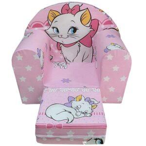 roze foteljica od sundjera sa naslikanom mackom