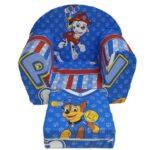 plava fotelja za decu patrolne sape