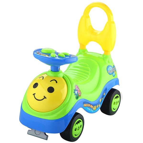 zuto zelena guralica za bebe Smile