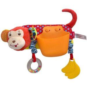 narandzasta igracka za kolica majmun