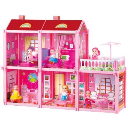 kucica za lutke sa 5 soba