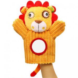 zuta rukavica za animaciju malisana lav