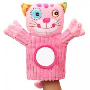 Plisana igracka za animaciju beba rukavica maca