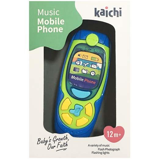 telefon za bebe u kutiji Kaichi plavi