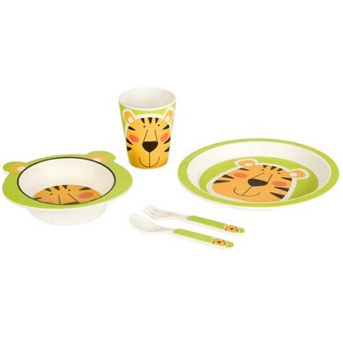 set za jelo od bambusa tigar