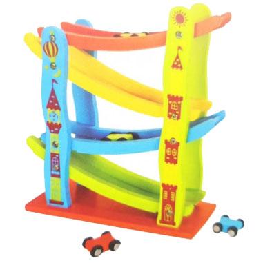 sarena drvena staza za decu i 4 autica ssc