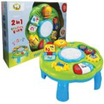 plavo zeleni edukativni sto za bebe inteligente