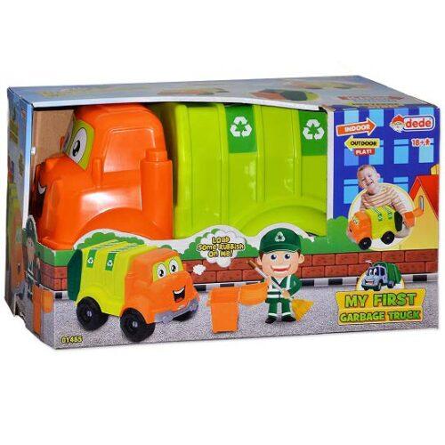 zeleni kamion za smece dede toys
