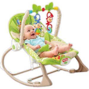 zelena lezaljka i beba u njoj ibaby