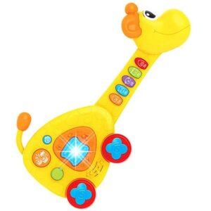 zuta gitara u obliku zirafe