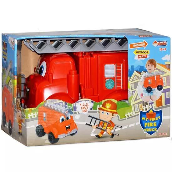 crveni vatrogasni kamion u kutiji Dede