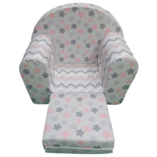 decija foteljica sive boje